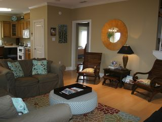 Dauphin Island house photo - Main floor living area with super comfortable sofas!