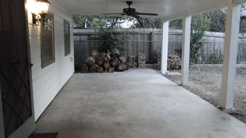 Large covered porch for outdoor activities
