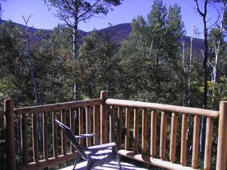 Carrabassett Valley condo photo - Deck View - Summer