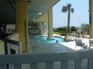 Cherry Grove Beach condo photo - View from Balcony - toward the westsouthwest