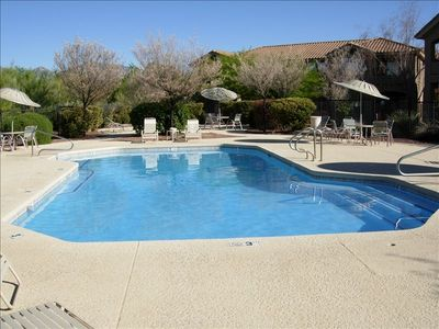 pool and hot tub are 3 minutes walking distance