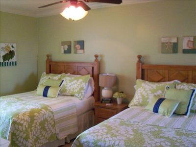 "Third Bedroom with 2 Full Beds and 32"" Flat Screen TV with DVD Player"