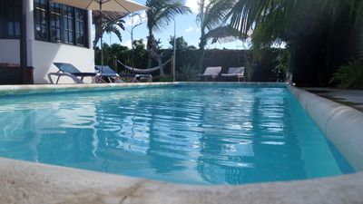Beautiful villa with private heated pool close to the beach with Wi-fi