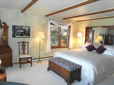 Master bedroom in the Main House