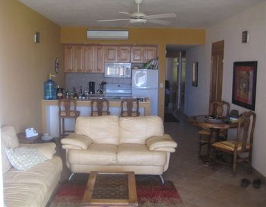 Living room and full kitchen