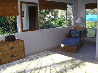 Hanalei house photo - Master bedroom chaise area
