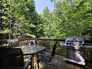 Pigeon Forge cabin photo - new open back deck private and secluded, sitting in amoungst the trees