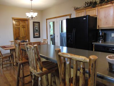 Eat in Kitchen Walks Out Onto Screened Porch to Enjoy the Mountain View