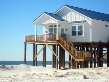 Dauphin Island cottage rental - Gulf-front house, completed in 2007