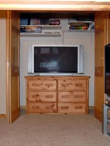 Bunk Room TV & Game Closet