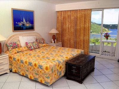 Master bedroom and view from balcony