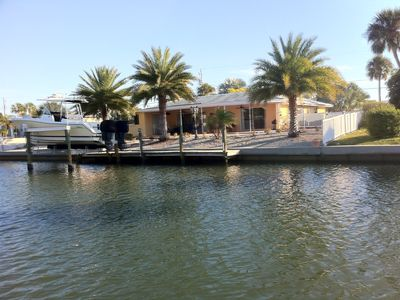 Holmes Beach house rental - Boat Dock for your own boat or to launch the tandem kayak provided. Fishing!