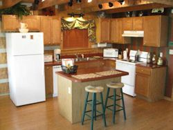 Wears Valley cabin rental - The full-size kitchen is well equipped with spices,oils,pots&pans,utensils