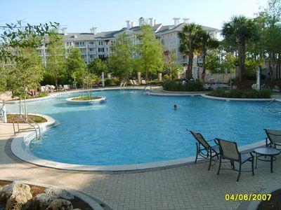 Our lagoon pool in also kiddie and hot tub!