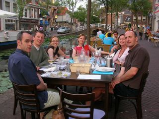 Delft house photo - al fresco dining on the canal side