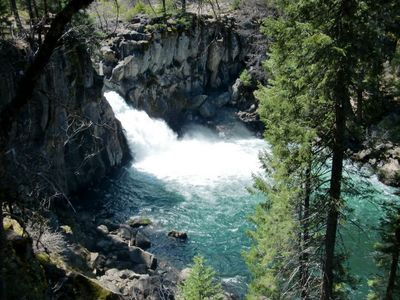 Upper McCloud River Waterfall - One of the three McCloud River Waterfalls