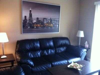 Family room with large flat screen tv/Xbox gaming concole