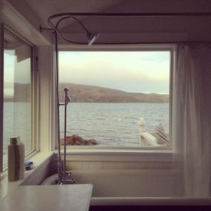 View of bathtub overlooking Tomales Bay