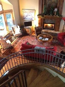 living room from second floor staircase