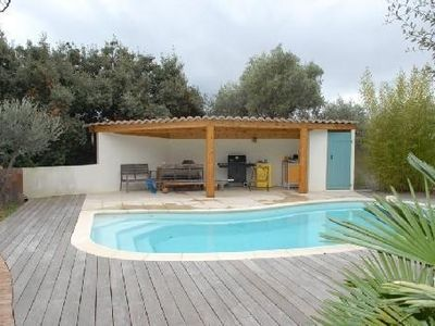 Ground floor villa with pool