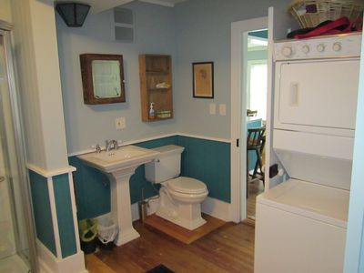 Bathroom off of kitchen.