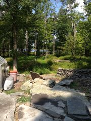 Bushkill house photo - View from the lower patio