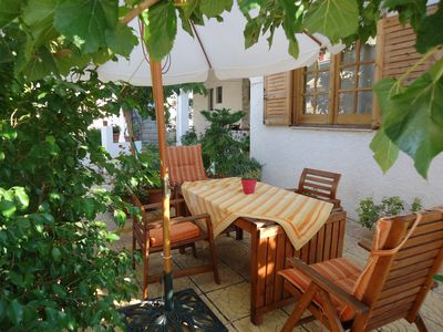 Patio of the spacious 3 room apartment