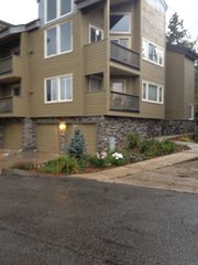 Silverthorne townhome photo - Ours is the corner unit with lower balcony - garage 2nd from right.