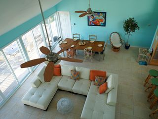 Great Exuma house photo - Looking into the Living & dining area from the Tranquility Room.