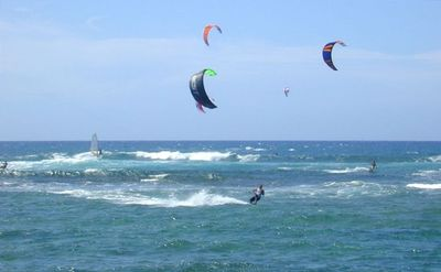Watch the kite surfers and surfers right from the deck or living room sofa.
