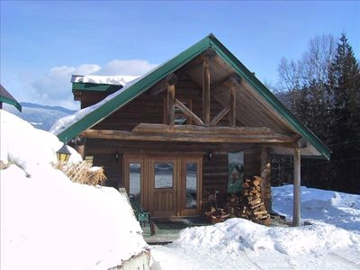 Front of Cottage in the Wintertime