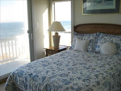 Oceanfront Bedroom with Queen size Bed and Private Deck