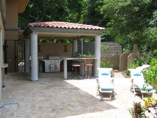 Playa Hermosa house photo - Patio View of Outdoor BBQ Kitchen