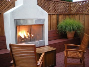 Pacific Grove house rental - Outside Deck and Warm Fireplace to Relax and Enjoy!