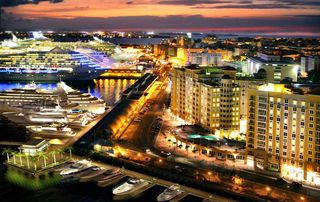Isla Verde apartment photo - Professional photo of aerial view of Port - Old San Juan. You will fall in love.