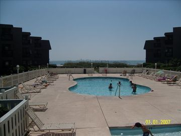 Two Out Door Swimming Pools, Heated in Spring and Fall.Special pool for children