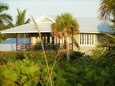 House, second story, seen from private beach preserve.