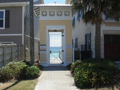 Private deeded access to the beach.