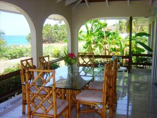 St. Croix house photo - Beach View Open Air --porch dining area