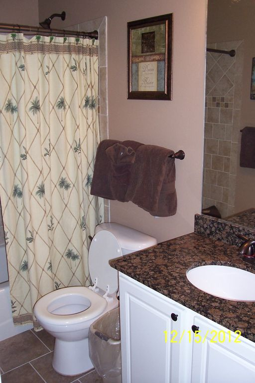Renovated 2012 Hall Bath with Tile Shower