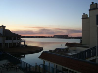 Horseshoe Bay townhome rental - Sunset from the deck