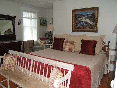 Rockport house rental - 2nd Floor Bedroom with Balcony - Ocean View (King)