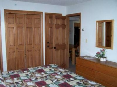 Large flat screen TV and ample closet space!