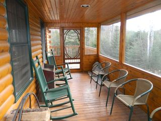 Carrabassett Valley house photo - Beautiful screen in porch.