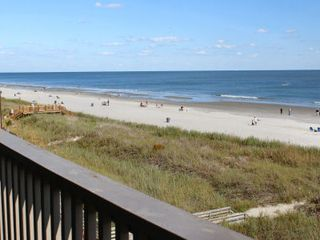 Ocean Drive Beach condo photo - North Myrtle Beach condo rental Chateau By The Sea H3 oceanfront balcony view