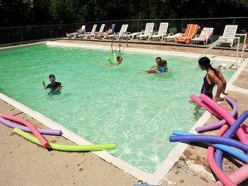 The Pool is open Memorial Day - Labor Day weekends! Enjoy!