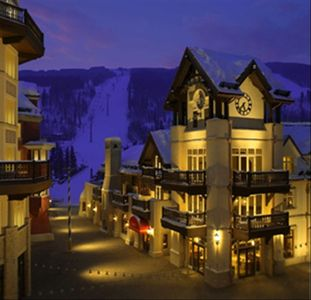 Vail Village at night