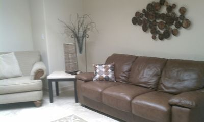 "Third Room/Den with pullout queen sofa, 60"" TV"