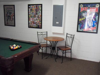 Games room with 7' quality pool table