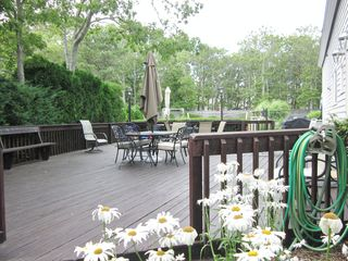 New Seabury house photo - 1200 sq ft. deck with BBQ